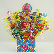 #103 Get Well Candy Bouquet Gift Basket