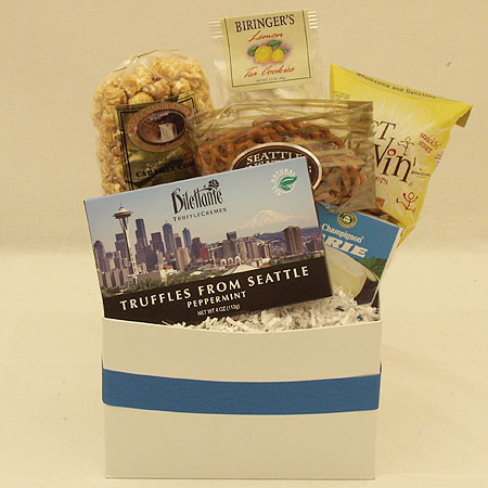 #10D The Small Crowd Pleaser Gift Basket at $36.95