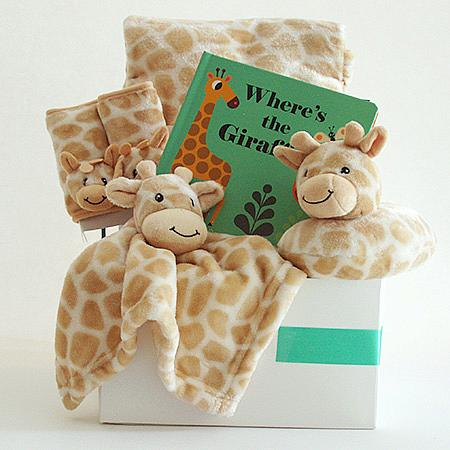 #119 Where's the Giraffe Baby Gift Basket