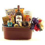 12 Northwest Wine Basket with Beef Summer Sausage