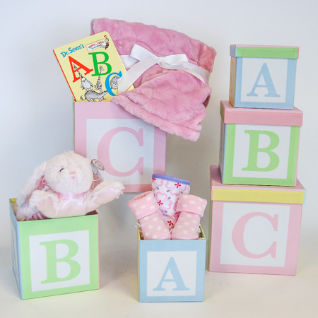 #120A It's A Girl! ABC Baby Storage Boxes
