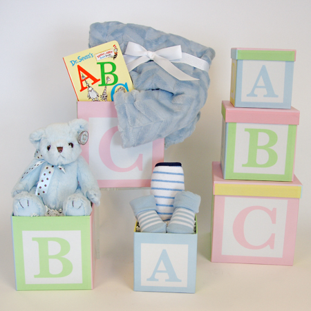 120B It's A Boy! ABC Baby Storage Boxes