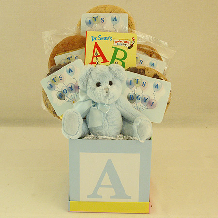 #121B Baby Boy Cookie Bouquet