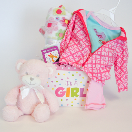 121A Bundle of Joy Baby Girl Gift Basket