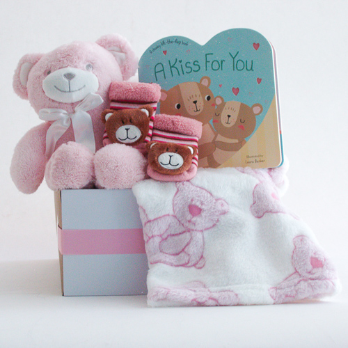 #121A Beary Special Baby Girl Gift Basket