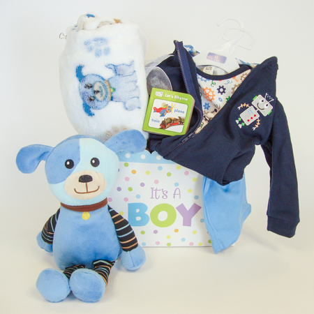 121B Bundle of Joy Baby Boy Gift Basket