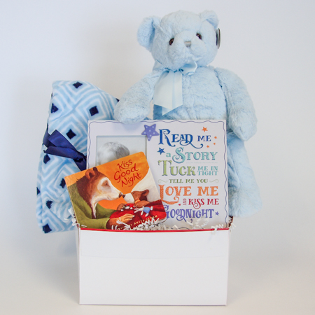 126B Read Me a Story, Kiss Me Goodnight Baby Boy Gift Basket