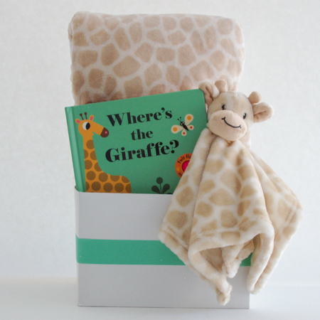 #128 Where's The Giraffe Baby Gift Basket
