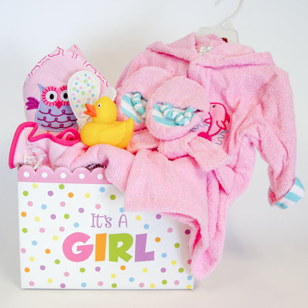 128A Baby Girl Bath Time Gift Basket