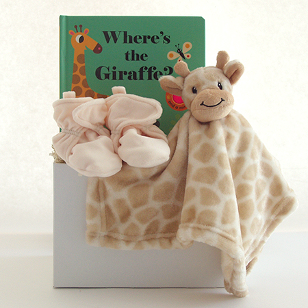 #128A Where's the Giraffe Baby Gift Basket