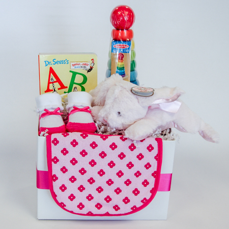129A Baby Girl Gift Basket