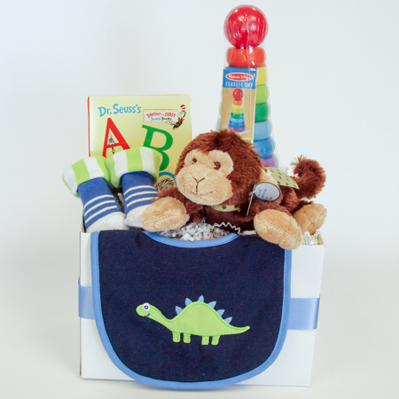 129B Baby Boy Gift Basket
