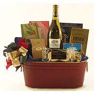 #13A Northwest Wine Basket with Smoked Salmon