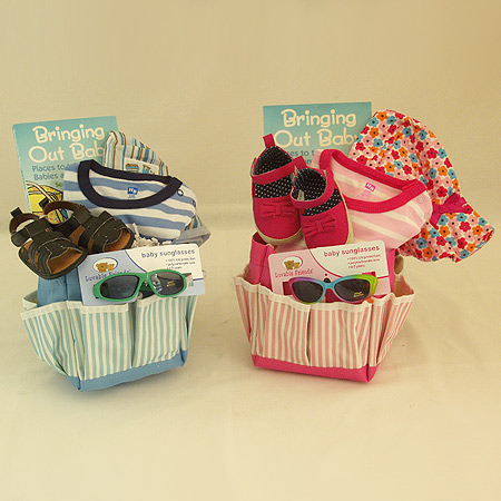#132 Out and About Baby Gift Basket