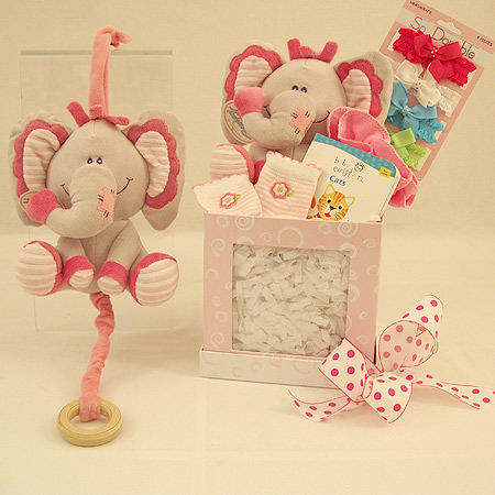 #135 Lullaby Baby Girl Gift Basket