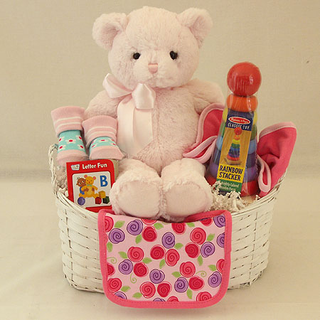 #120A Bundle of Joy Baby Girl Gift Basket