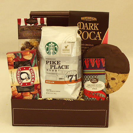 #15A Starbucks Coffee and Chocolates Gift Basket