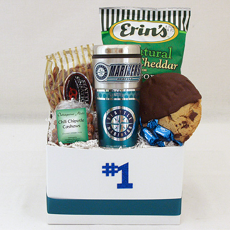 #161C Snack Gift Basket with MBL Seattle Mariners Travel Tumbler