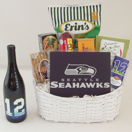#162B Tailgate Gift Basket with MLS Sounders Cutting Board