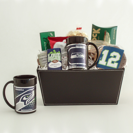 #165 The 12th Man Candy Jar filled with Seattle Chocolate Truffles