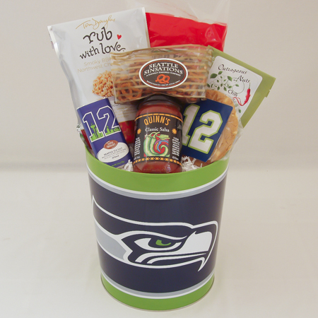 162A Seattle Seahawks Tin Filled with Yummy Snacks