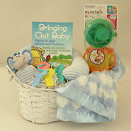#18B Bringing Out Baby Boy Gift Basket
