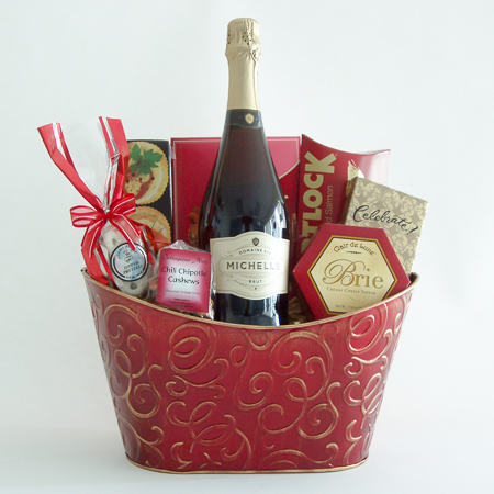 #18A Champagne Toast Gift Basket with Ste. Michelle Sparkling Brut