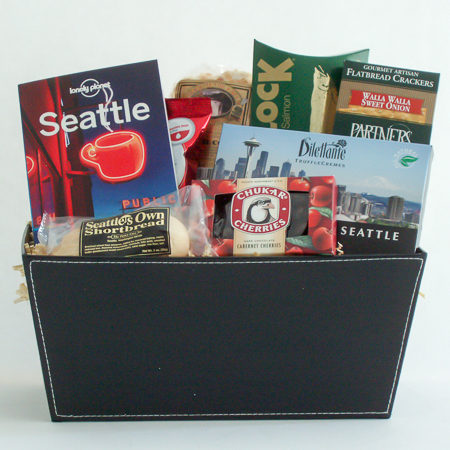#19B Discover Seattle Guide Book Gift Basket