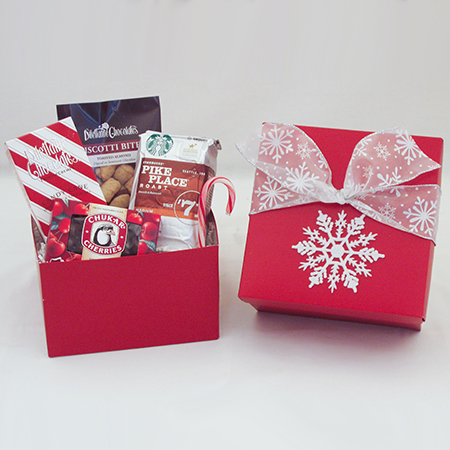 Holiday V Northwest Coffee Gift Box with Starbucks Coffee and Chocolates