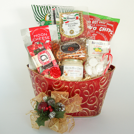 Holiday #D Medium Holiday Crowd Pleaser Gift Basket at $73.95