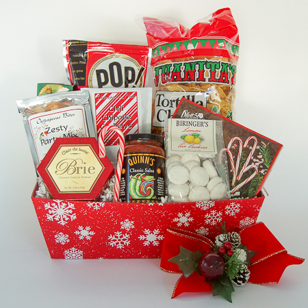 Holiday #E Medium Holiday Crowd Pleaser Gift Basket at $68.95