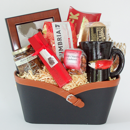 Holiday #Q2 The Northwest Executive Holiday Gift Basket with Pottery Salmon Mug and Coffee