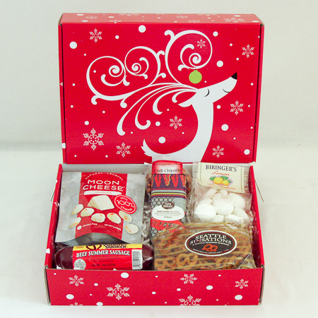 Holiday #X2 Gourmet Greetings from the Pacific NW Holiday Gift Box with Tillamook Country Smoker Beef Summer Sausage