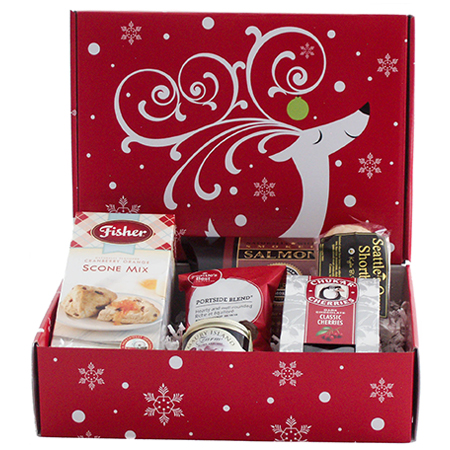 BB  Pacific NW Gourmet Greetings Holiday Gift Box with Smoked Salmon