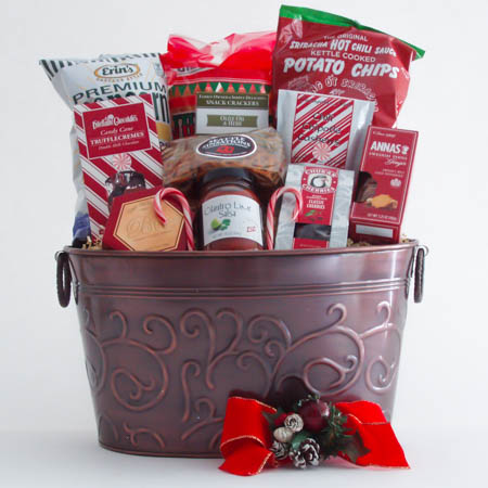 D Large Holiday Crowd Pleaser Gift Basket at $99.95