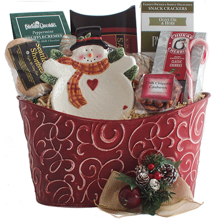 T Happy Holidays Gift Basket