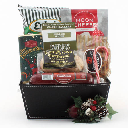 U Holiday Snack Attack Gift Basket with Dan's Summer Sausage