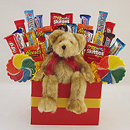 #104 Teddy Bear Candy Bouquet Gift Basket