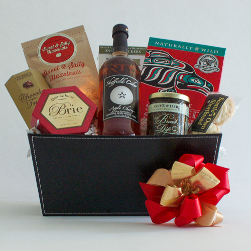 #2A Northwest Gift Basket with Smoked Salmon & Sparkling Apple Cider