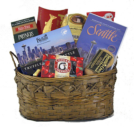 #2A Seattle Gift Basket with Scenic Seattle DVD