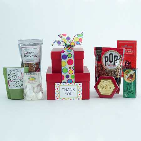 #30B Thank You Gourmet Treats Stacked Gift Boxes