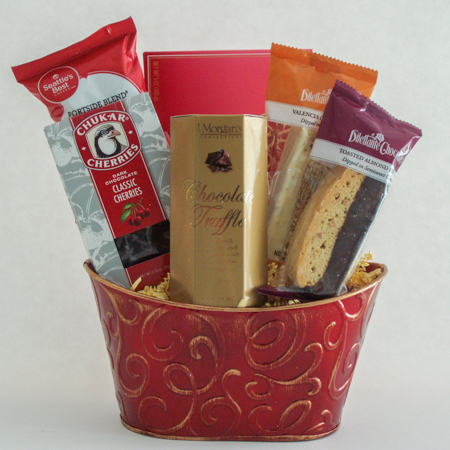 #33 Coffee and Chocolates Gift Basket
