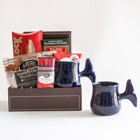 #34 Pacific Northwest Gourmet Gift Basket with a Whale Tail Mug