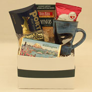 #34 Savor Washington Gift Box with a Handmade Pottery Orca Whale Mug