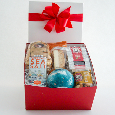 #37A Gift Box of Goodies with a Teal Glass Orb That Lights