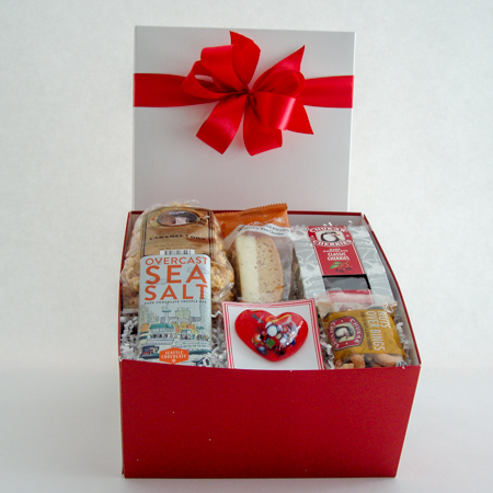 #37C Gift Box of Goodies with Handblown Glass Heart