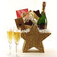 #4 Sweet Celebration Champagne Gift Basket with Two Champagne Flutes