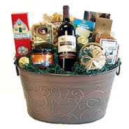 #48 Easy Entertainer Wine or Sparkling Cider or Champagne Gift Basket
