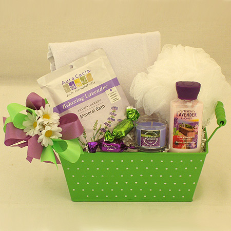 #61 Relaxing Bath Gift Basket