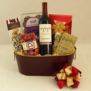 58 Cheers to You!  Wine and Chocolate Gift Basket